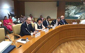 Рабочий визит делегации Комитета СФ поконституционному законодательству игосударственному строительству вРеспублику Индию