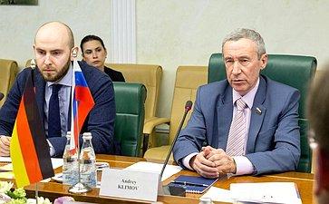 Встреча А. Климова счленом Комитета помеждународным делам Бундестага ФРГ М.Заррацином