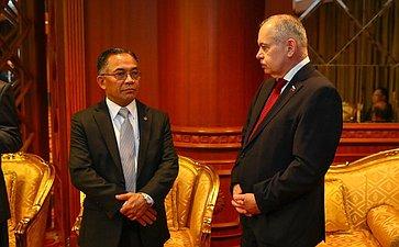 Встреча сминистрами Государства Бруней-Даруссалам ипредставителями деловых кругов