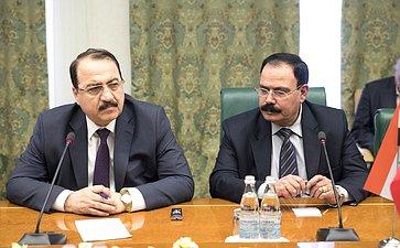 Встреча К. Косачева снаблюдателями отпарламента Сирии