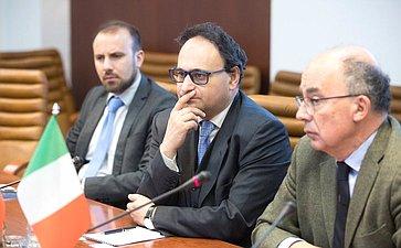Встреча А. Башкина сректором Туринского университета Д.Айани