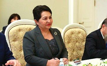 Встреча В.Матвиенко сПредседателем Сената Олий Мажлиса Узбекистана Т.Нарбаевой