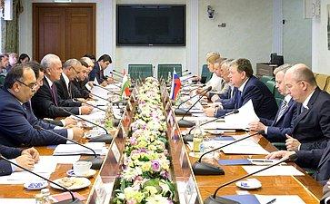 Заседание Комиссии посотрудничеству Совета Федерации иМаджлиси милли парламента Таджикистана
