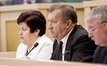 Анатолий Мишнев на 358 заседании Совета Федерации