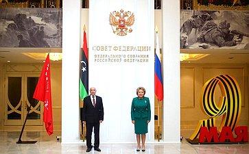 Встреча Валентины Матвиенко сПредседателем Палаты депутатов Государства Ливия Агилой Салехом