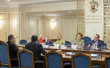Встреча заместителя Председателя СФ Галины Кареловой сЧрезвычайным иПолномочным Послом Королевства Бахрейн вРФ Ахмедом Аль-Саати