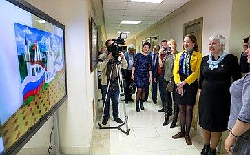 Открытие вСовете Федерации выставки детских картин, посвященной пятилетию Крымской весны