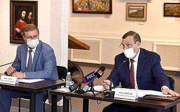 К.Косачев принял участие ввыездном совещании вг.Козьмодемьянск, посвященном развитию инфраструктуры региона