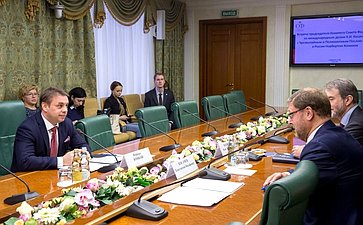 Встреча К.Косачева c Послом Венгрии вРФ Н.Конкоем