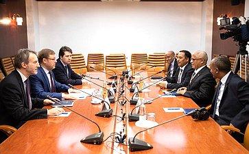 Встреча Константина Косачева сЧрезвычайным иПолномочным послом Эфиопии вРФ Алемаеху Тегеном