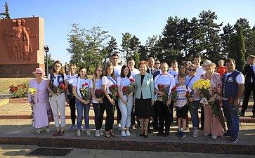 Делегация Совета Федерации воглаве сГалиной Кареловой приняла участие вмероприятиях, посвященных 75 летию Ясско-Кишинёвской операции