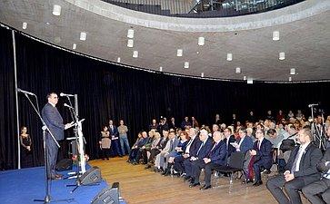 Выступление Николая Федорова вЦентре космических технологий вгороде Витанье