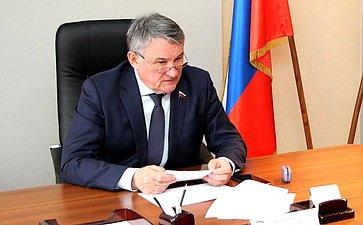 В.Бондарев иА.Симонян обсудили вопросы подготовки ипроведения заседания российско-армянской Межпарламентской комиссии посотрудничеству