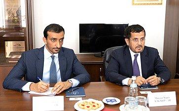Встреча В. Петренко сЧрезвычайным иПолномочным Послом Объединенных Арабских Эмиратов вРФ М. Аль-Хейили