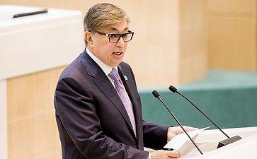 374-е заседание Совета Федерации Спикер Парламента Казахстана