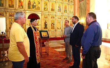 Посещение Храма Святой Живоначальной Троицы вПхеньяне