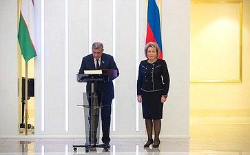 Встреча В. Матвиенко сПредседателем Сената Олий Мажлиса Республики Узбекистан Н.Юлдашевым