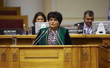 Выступление Председателя Меджлиса Туркменистана Акджи Нурбердыевой