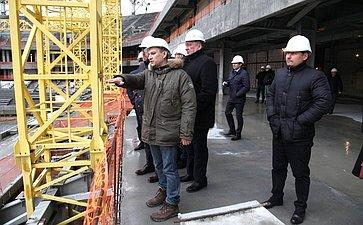 Члены Совета Федерации ознакомились сходом работ наобъектах, включенных впрограмму подготовки кпроведению Чемпионата мира пофутболу
