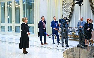 Брифинг В. Матвиенко поитогам встречи сПрезидентом Узбекистана
