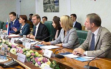 Встреча членов Совета Федерации сделегацией Общества дружбы между Японией иРоссией ичленами Молодежной палаты Японии