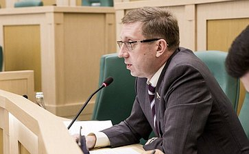 Алексей Майоров на 358 заседании Совета Федерации