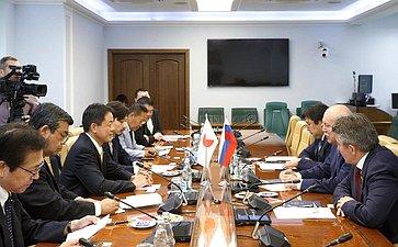 Встреча Д. Мезенцева счленом Палаты советников Парламента Японии Г. Хасэгава