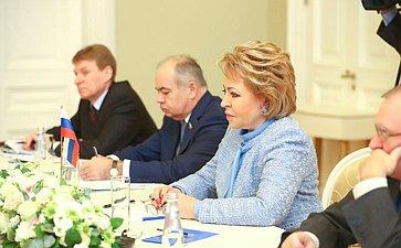 Встреча В. Матвиенко сПредседателем Жогорку Кенеша (парламента) Кыргызской Республики Чыныбаем Турсунбековым