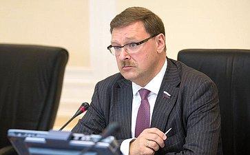 К. Косачев назаседании Комитета помеждународным делам