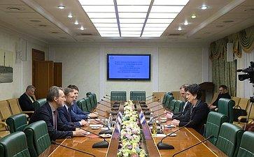 Встреча Константина Косачева слидером партии «Демократическое движение– Единая Грузия» Нино Бурджанадзе