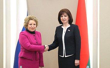 Встреча В. Матвиенко сН.Кочановой
