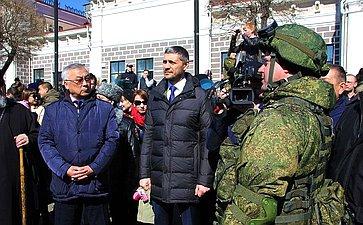 Баир Жамсуев принял участие вторжественном митинге, посвященном открытию военно-патриотической акции «Сирийский перелом»