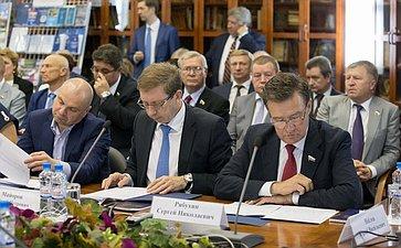 Встреча сенаторов сруководством Торгово-промышленной палаты РФ