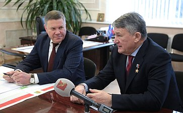 Юрий Воробьев принял участие вовстрече повопросам исполнения поручений градостроительного совета вВытегорском районе Вологодской области
