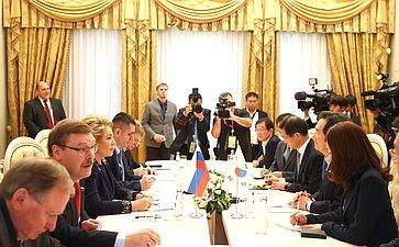 Встреча Председателя СФ сПредседателем Национального собрания Республики Корея
