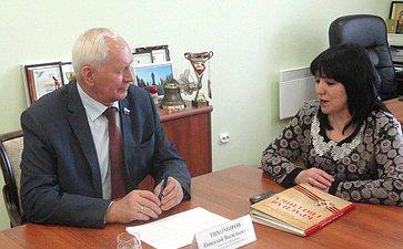 Н. Тихомиров посетил Кирилловский муниципальный район Вологодской области