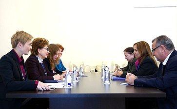 Встреча Г. Кареловой сзаместителем Председателя Национальной ассамблеи народной власти Республики Куба