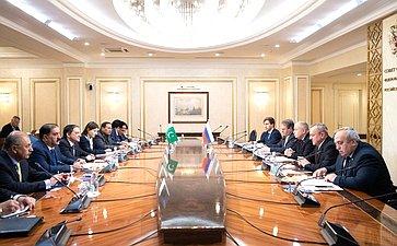 Встреча И.Умаханова сзаместителем Председателя Сената Исламской Республики Пакистан Салимом Мандвиваллой
