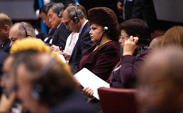 Член Комитета СФ посоциальной политике В. Петренко принимает участие вмероприятиях 135-й Ассамблеи Межпарламентского союза