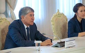 Президент Киргизской Республики Алмазбек Шаршенович Атамбаев