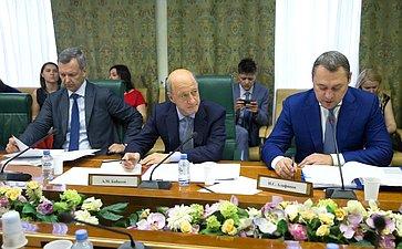 Заседание Временной комиссии СФ поосуществлению парламентского контроля заходом реализации комплексного плана модернизации ирасширения магистральной инфраструктуры напериод до2024года вчасти транспортной инфраструктуры
