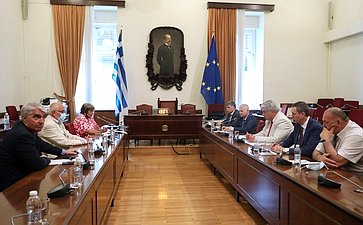 Делегация Комитета СФ пообороне ибезопасности посетила Греческую Республику