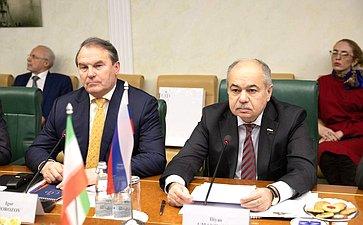 Встреча И. Умаханова c руководителем ирано-российской группы парламентской дружбы Собрания Исламского совета Исламской Республики Иран Рамзаном Али Собханифаром