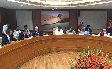 Рабочий визит делегации Комитета СФ поконституционному законодательству игосударственному строительству воглаве спредседателем Комитета А.Клишасом вРеспублику Индию, 2018