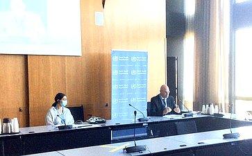 Владимир Круглый вкачестве докладчика Парламентской ассамблеи Совета Европы (ПАСЕ) провел консультации вштаб-квартире Всемирной организации здравоохранени
