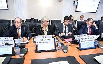 Совещание Комитета СФ поэкономической политике натему «Обобсуждении пакета законопроектов, направленных назащиту ипоощрение капиталовложений иразвитие инвестиционной деятельности вРФ»