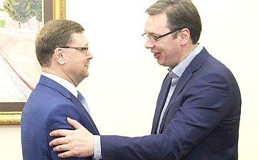 К. Косачев ипремьер-министр Сербии А. Вучич