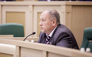 Сергей Рыбаков на 358 заседании Совета Федерации