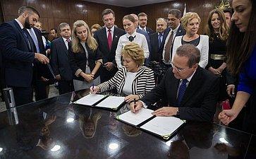 Официальный визит делегации Совета Федерации вБразилию