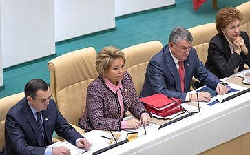 Николай Федоров, Валентина Матвиенко, Юрий Воробьев иГалина Карелова